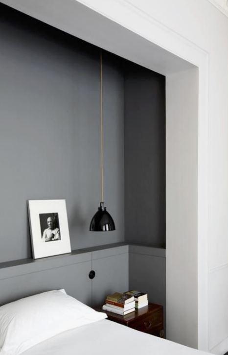 Illuminazione ai lati del letto comfort visivo per la lettura made with home - Lampade da lettura a letto ...