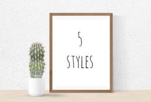 5 stili di arredamento per tutti i gusti!