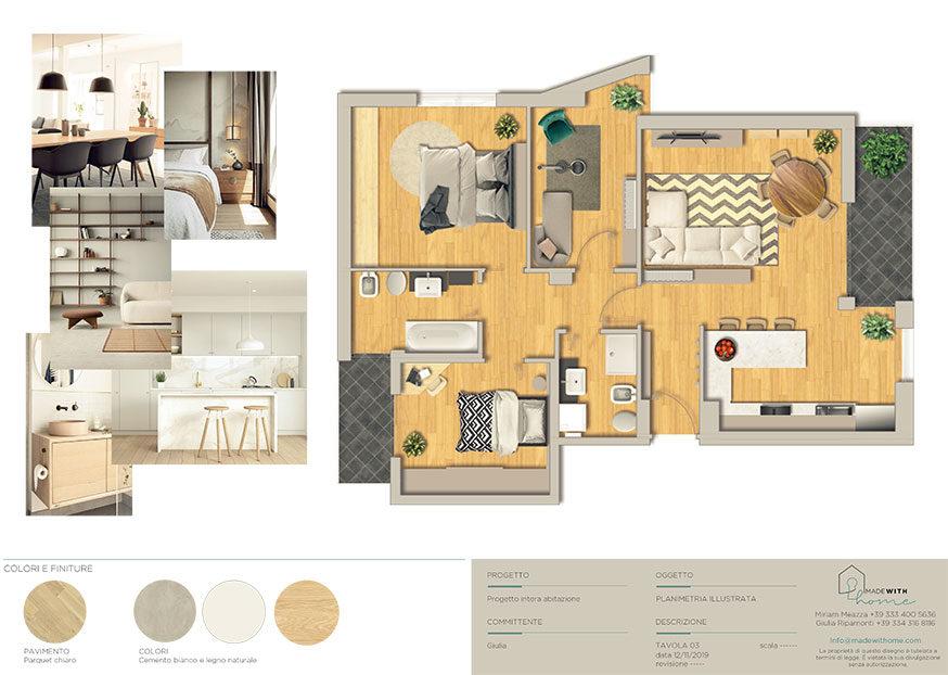 Moodboard planimetria_Il nuovo Appartamento di Giulia