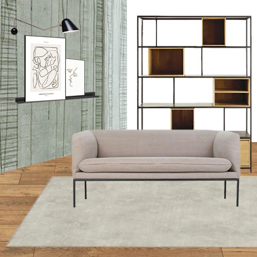 Collage salotto 1_Il soggiorno Japandi di Martina