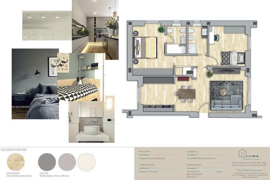Moodboard planimetria_La nuova Casa di Simone e Valentina