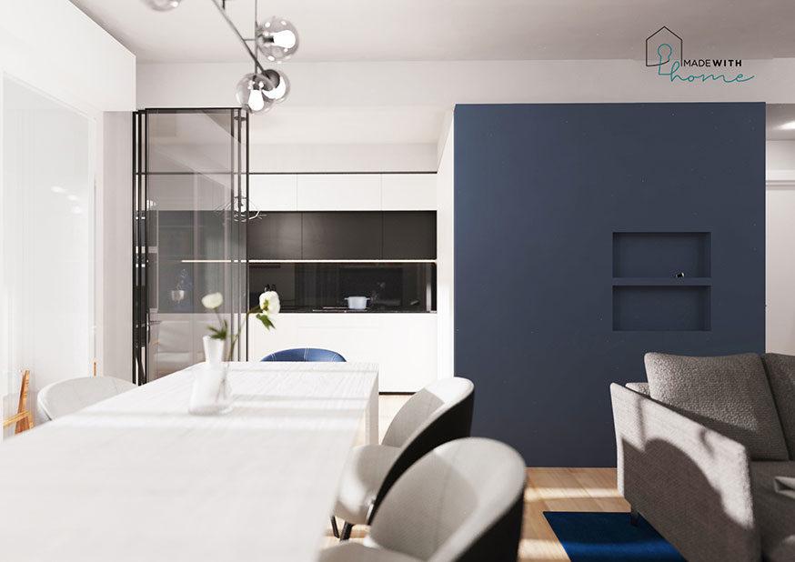 Render cucina_L'appartamento in Blu di Fabio