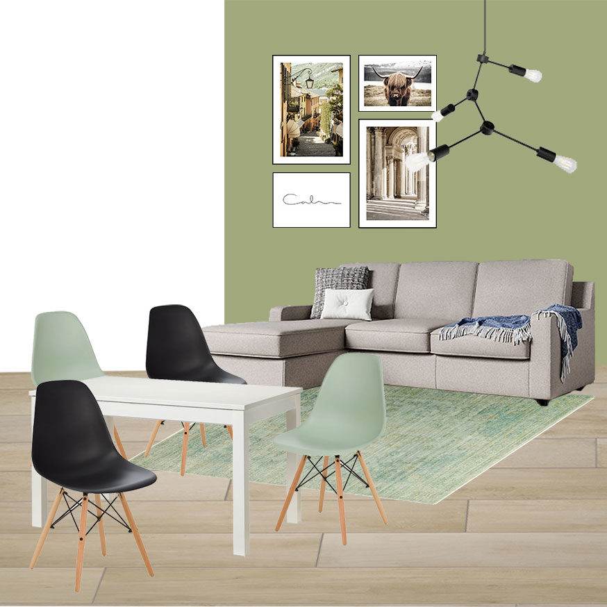 Collage Soggiorno 1_L'appartamento in Blu di Fabio