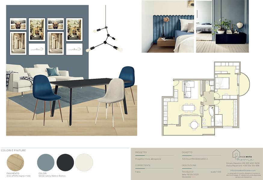 Moodboard Soggiorno 2_L'appartamento in Blu di Fabio