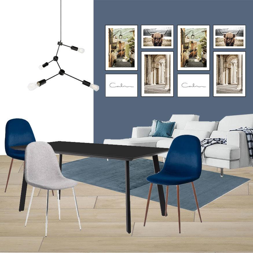 Collage Soggiorno 2_L'appartamento in Blu di Fabio