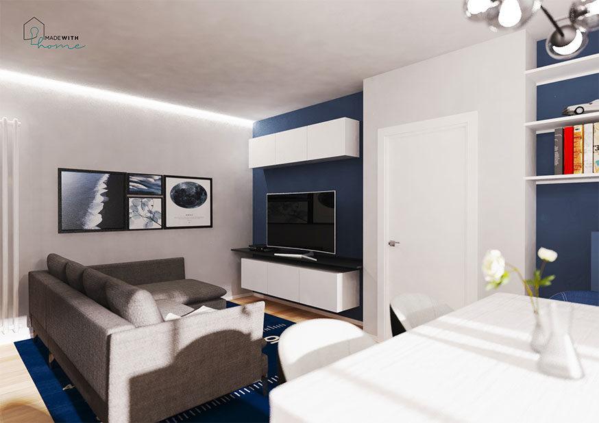 Render soggiorno_L'appartamento in Blu di Fabio