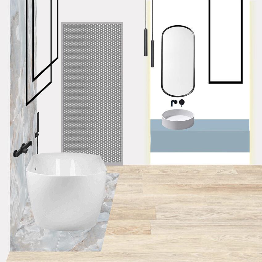 Collage 1_Il bagno padronale Eclettico di Francesca
