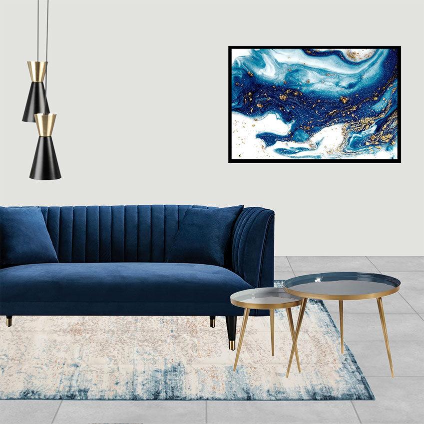 Collage 1_Il living e la camera dagli arredi verde Bosco di Chiara